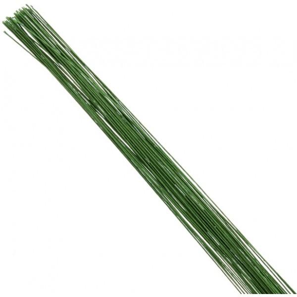 Bakeria- 28 Gauge Blumendraht grün, 50 Stück- Florist Wire 28 Gauge
