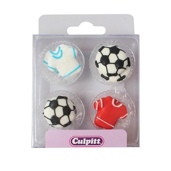 Zuckerfiguren Fußball Zucker Football Zuckerdeko Tortendeko Muffin Culpitt