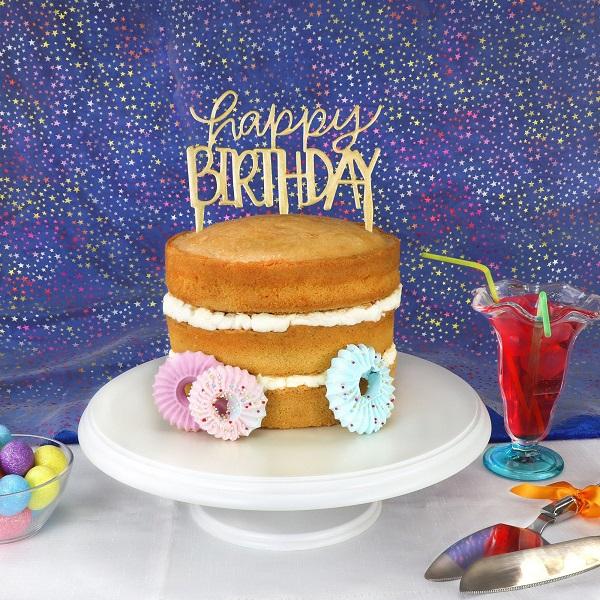 PME Happy Birthday Modern Topper Ausstecher 1