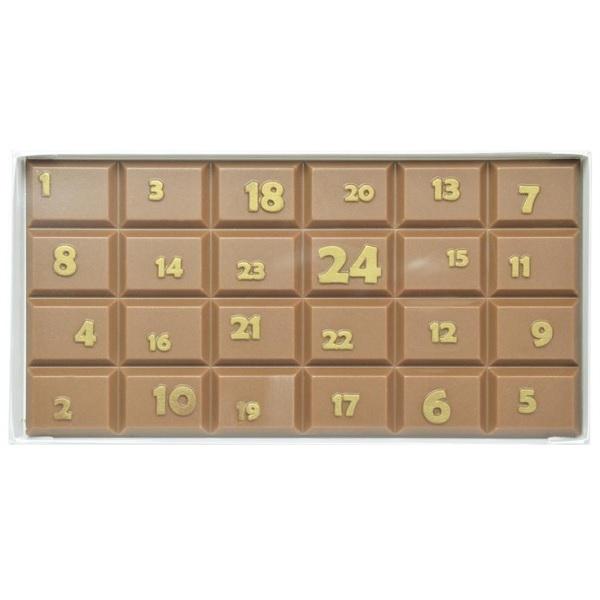 Schokoladen Weihnachtskalender.Adventskalender Schokoladen Tafel Giessform 100g Ru 0582