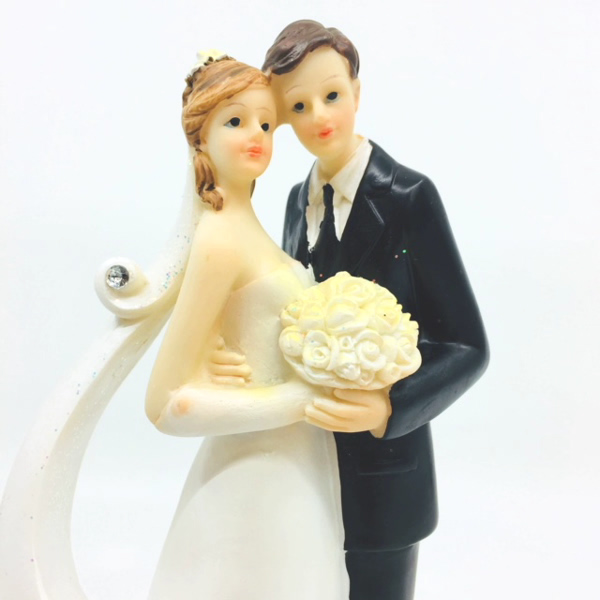 Bakeria- Wedding Cake Topper Diamond-Veil, 21cm- Decorative Figure ...