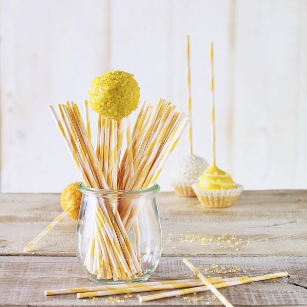 bakeria 15cm cake pop stiele orange weiss gestreift 48 st ck rbv birkmann lollipop stiele aus. Black Bedroom Furniture Sets. Home Design Ideas