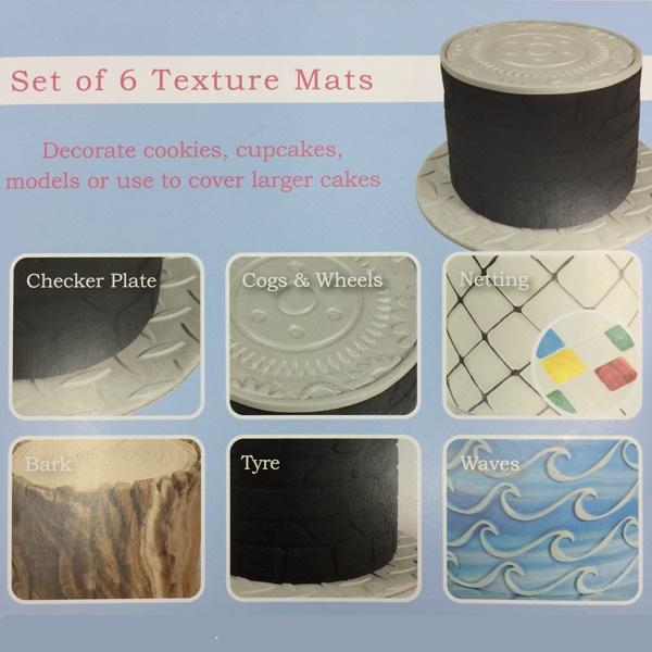 Texture Mat Set Of 6 Cake Star