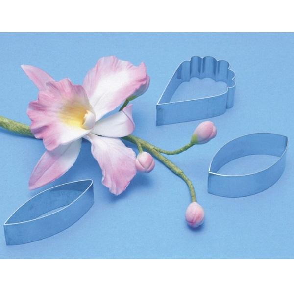 bakeria pme cattleya orchidee ausstecher set 3 teilig. Black Bedroom Furniture Sets. Home Design Ideas