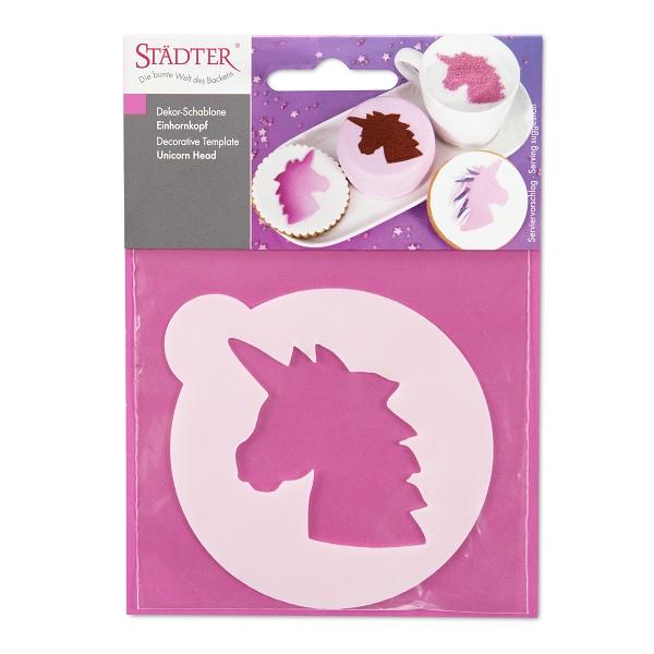 bakeria unicorn head decor stencil unicorn decorative template stencil