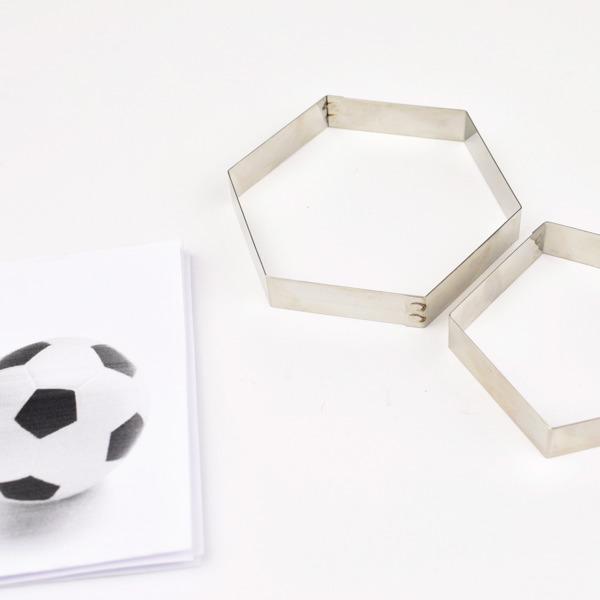 Bakeria- Football Hexagon & Pentagon Sugarcraft Cutter Set ...