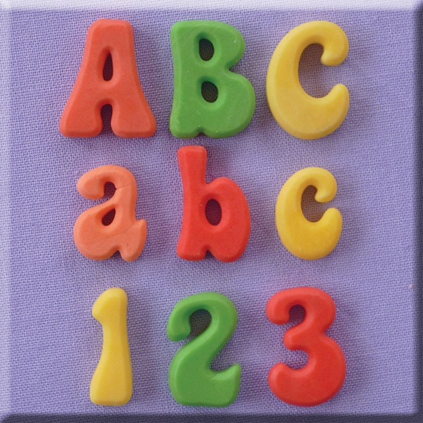 Fun Font Alphabet Numbers Silicone Mould 1