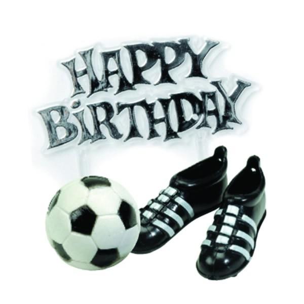 Fussball Schuhe Tortendekoration Mit Happy Birthday Schild Ah Bu040