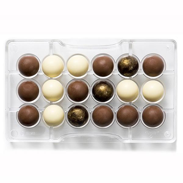 bakeria profi schokoladenform halbkugeln 25mm hohlkugel schokoladenform. Black Bedroom Furniture Sets. Home Design Ideas