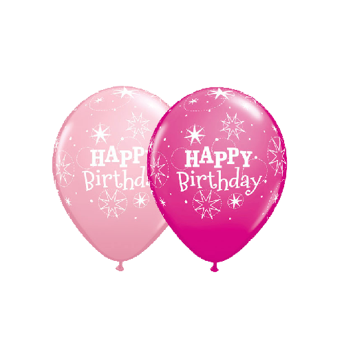 Happy Birthday Balloons Pink 25 Pcs 1