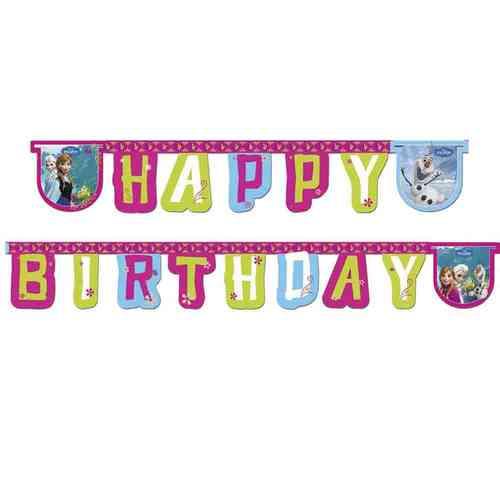bakeria frozen happy birthday banner