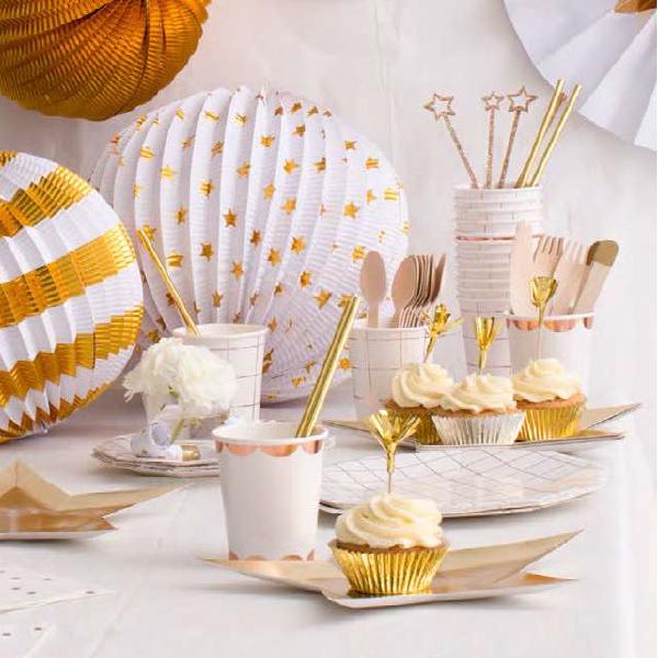 bakeria meri meri glamour party cupcake deko set cupcakef rmchen gold silber feuerwerk topper. Black Bedroom Furniture Sets. Home Design Ideas