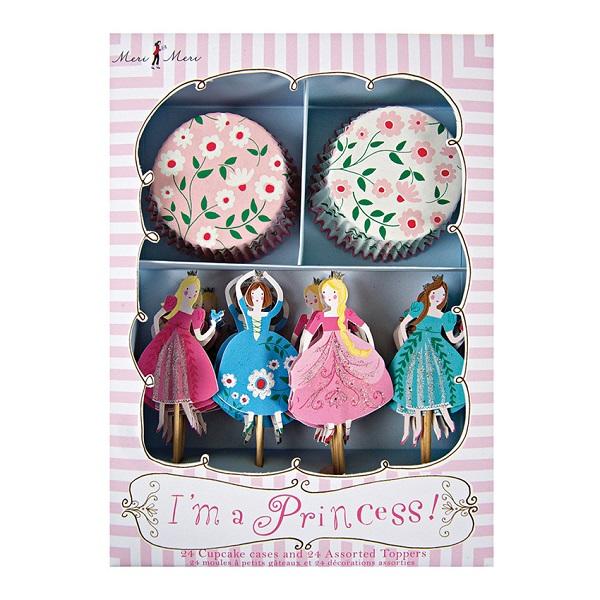 Meri Princess Cupcake Deko Set 1