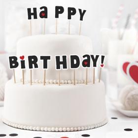 Cupcake Topper Happy Birthday
