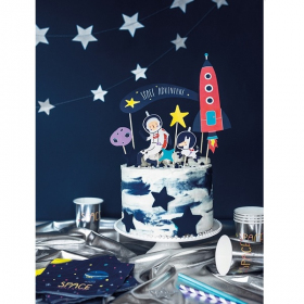 Space Party Cake Topper Set 7 Pcs