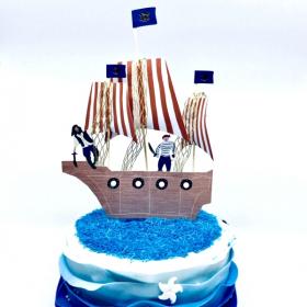 Meri Piratenschiff Kuchentopper