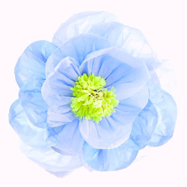 Bakeria 40cm pastel blue poppy flower decoration 1 pcs decadent 40cm pastel blue poppy flower decoration 1 pcs1 mightylinksfo