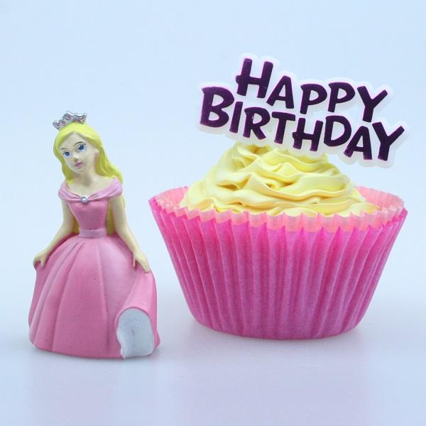 Bakeria Princess Cake Topper With Happy Birthday Motto