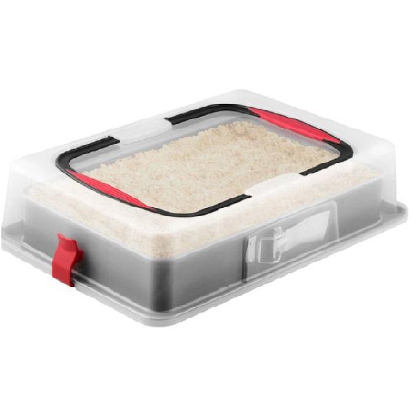 bakeria rechteckige blechkuchen springform mit deckel tortentransportbox. Black Bedroom Furniture Sets. Home Design Ideas