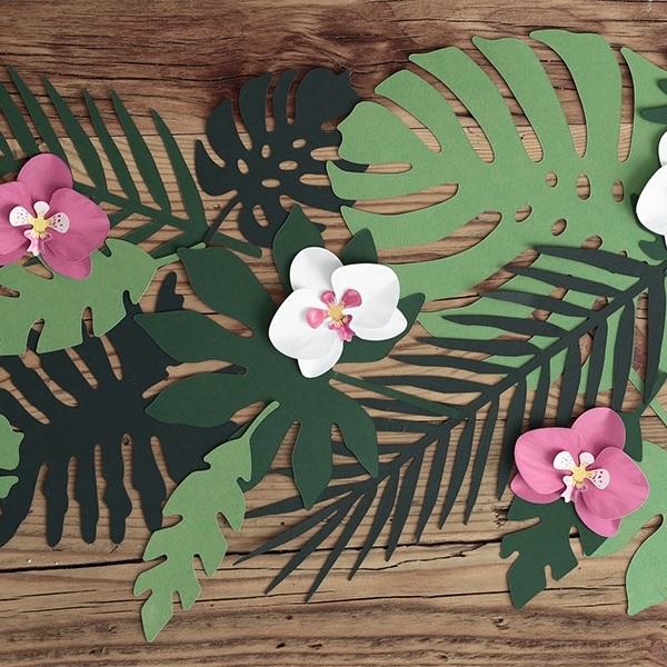 Bakeria Aloha Tropical Leaves Tischdekoration 21 Stuck