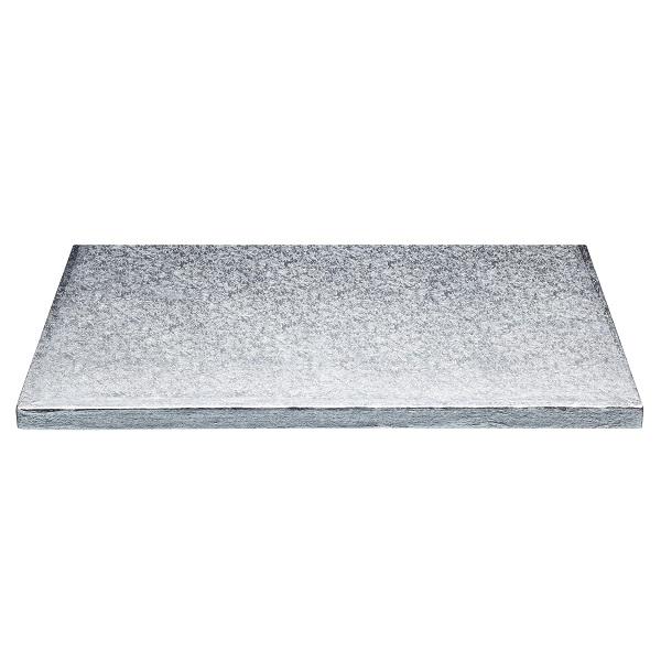 bakeria 12mm tortenplatte rechteckig silber 30x25 cm cake board rechteckig. Black Bedroom Furniture Sets. Home Design Ideas