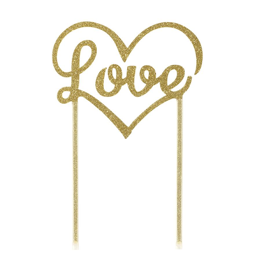 Bakeria Gold Love Cake Topper