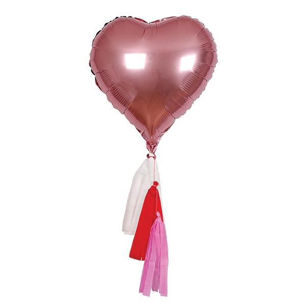 Bakeria- Meri Meri Folienballon Valentinstag-Herzen, 6 Stück- Herzen ...