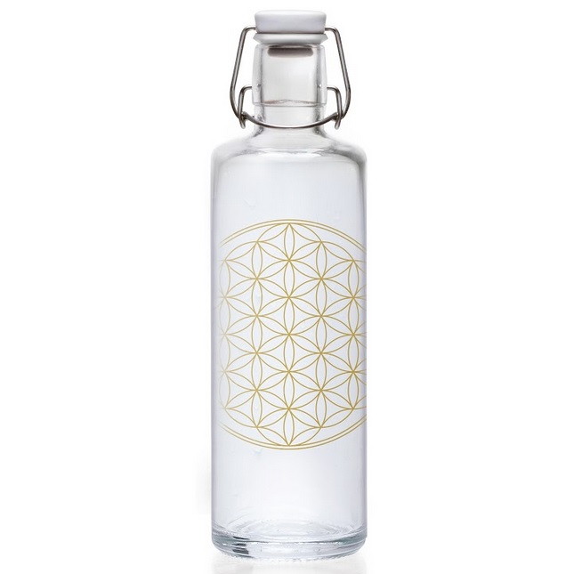 Bakeria Flower Of Life Soulbottle Glasflasche 1 Liter Soulbottles