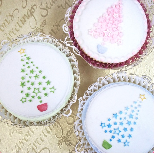 bakeria weihnachtsbaum cupcake aufleger silicone mould. Black Bedroom Furniture Sets. Home Design Ideas