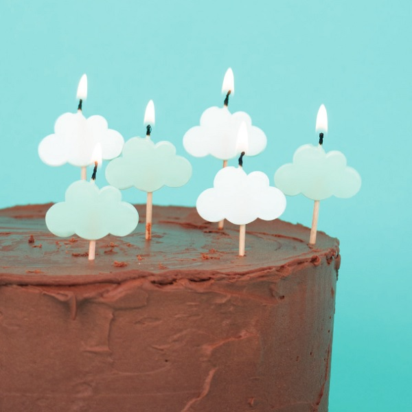 Novelty Candles Clouds 6 Pcs 1