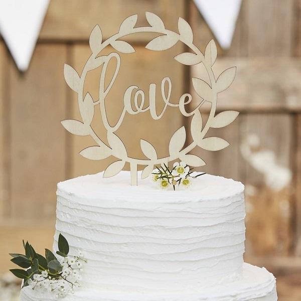 Bakeria Love Holz Kuchentopper Kuchen Topper Love