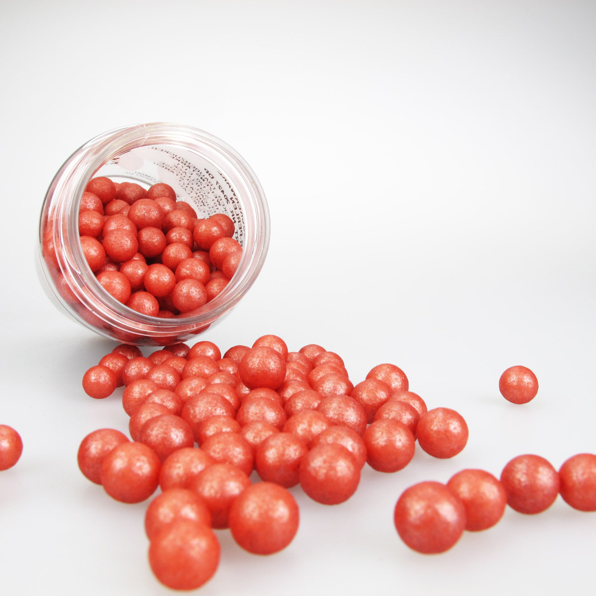 Bakeria- Zuckerperlen Gross Rot, 70g- Rote Zuckerperlen